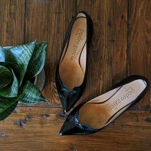 Pedro Garcia Leather Ballet Point Flats